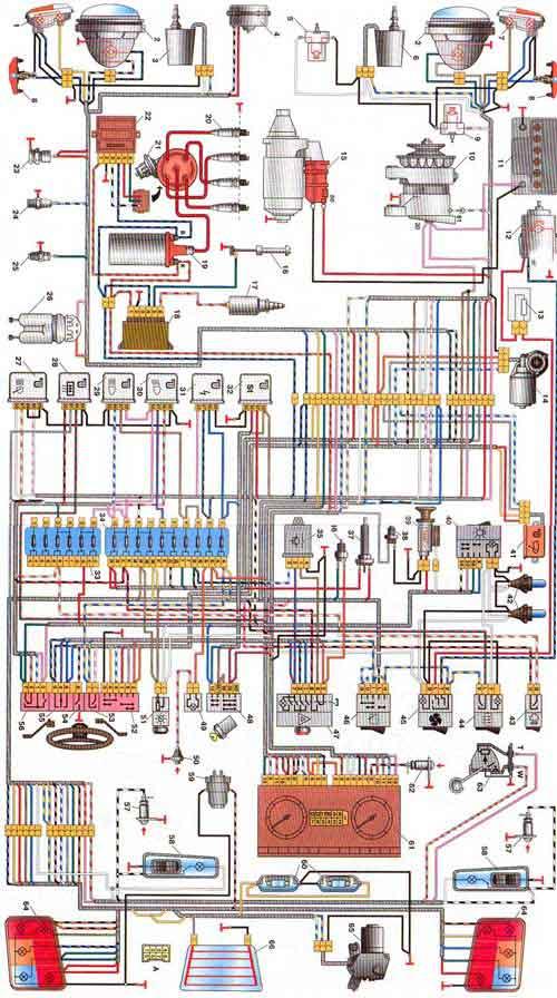 Схема электрооборудования для газ Схема эл проводки уаз...